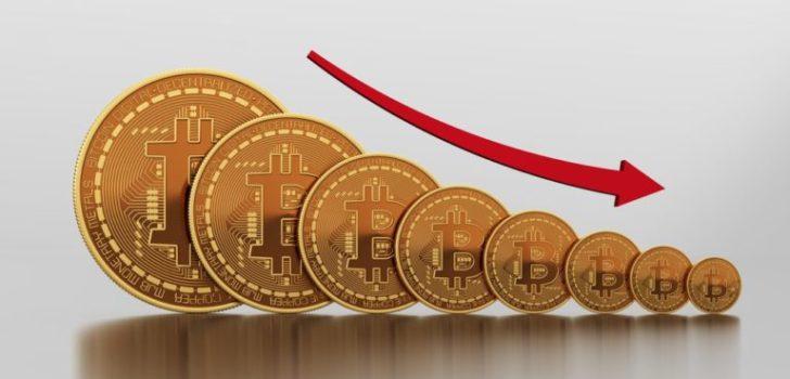 Стоимость биткоина упала ниже $14000
