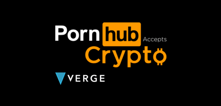 Pornhub внедряет криптовалютную поддержку Verge для анонимных платежей