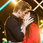 Алексей Воробьев и Ирина Дубцова поцелуй