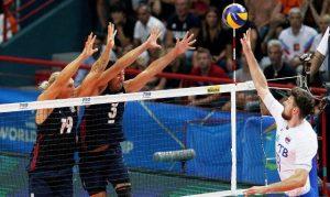 Россия уступила США со счетом 1:3 на Чемпионате Мира по волейболу
