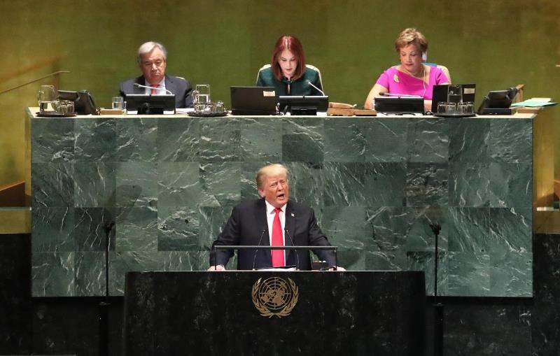 выступление Трампа в ООН