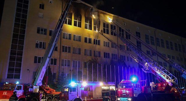Пожар случился в академии ФСИН в Рязани