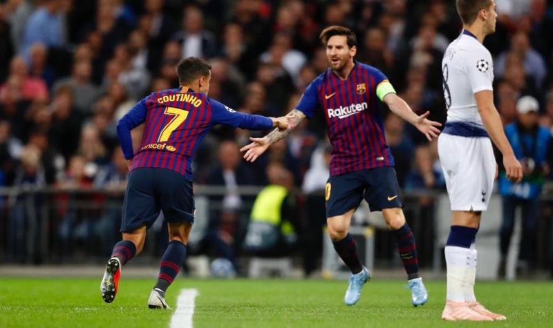 Тоттенхэм Барселона 2-4