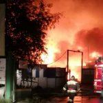 пожар в Мочище Новосибирск