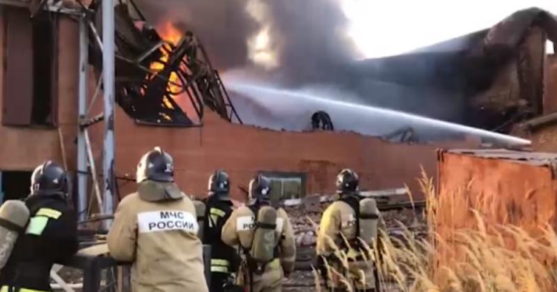 пожар во Владикавказе на цинковом заводе