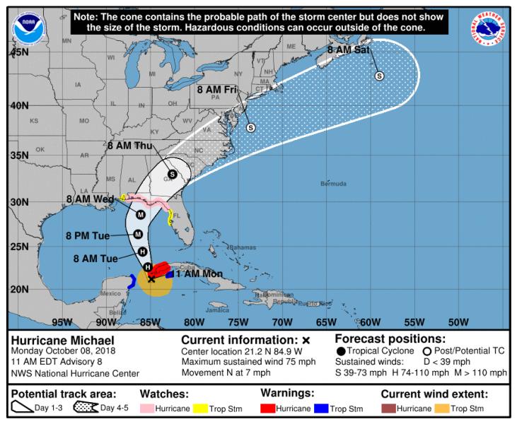 ураган Майкл в Америке