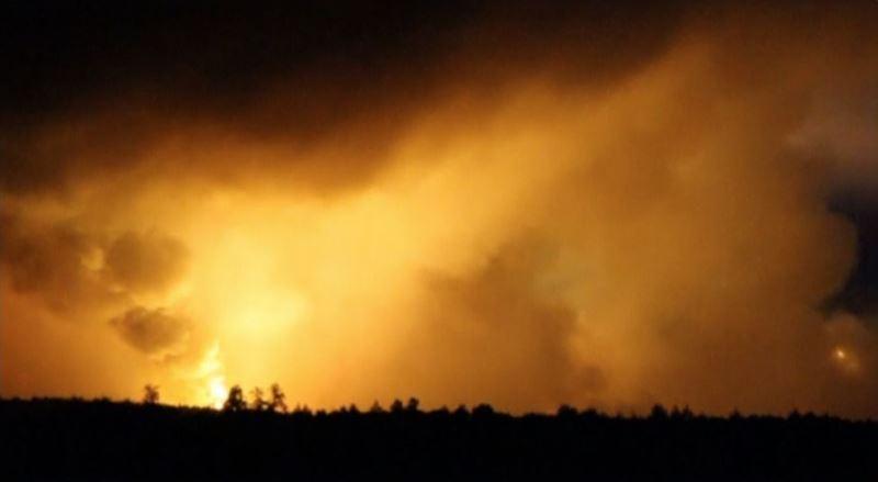 взрывы боеприпасов в Ичне