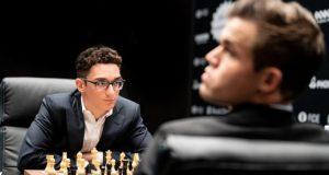 Карлсен и Каруана в 4 партии сыграли вничью