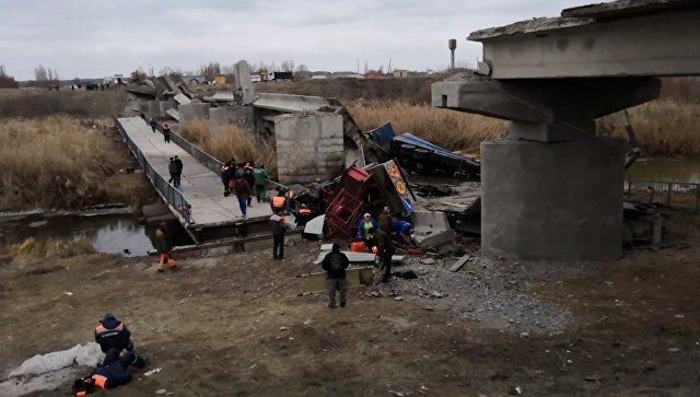обрушение моста в Воронежской области