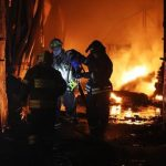 пожар на складе в Пушкино