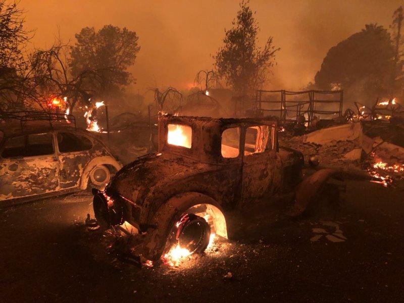 пожар в Калифорнии Парадайз