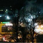 пожар в ТЦ Заря в Новокузнецке