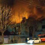 пожар во Владивостоке ТЦ Бум