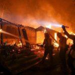 пожары в Калифорнии карта