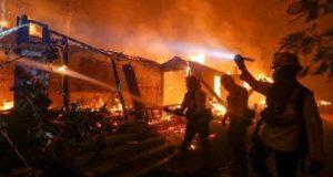 Крупнейший пожар опустошает Калифорнию