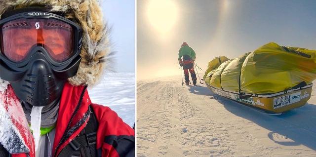 Колин О'Брейди пересечение Антарктиды на лыжах