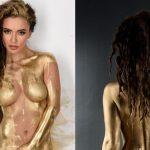 Ольга Серябкина голая в золоте