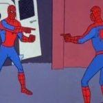 мемы с человеком пауком
