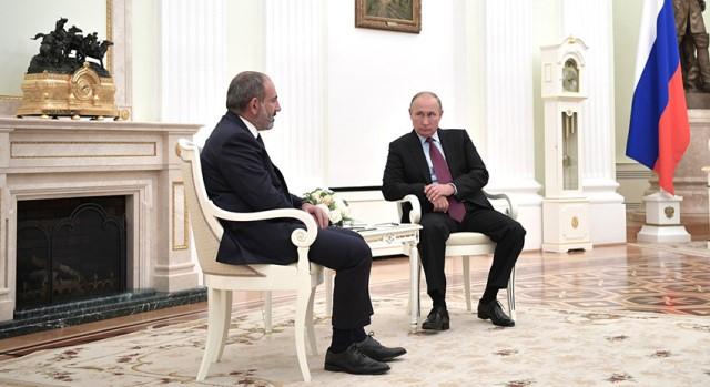 встреча Путина и Пашиняна